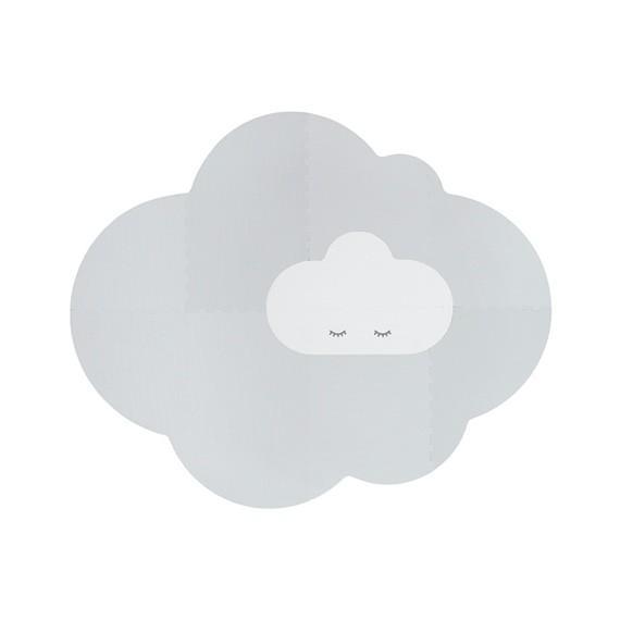 Quut - Playmat - Head in the clouds L Pearl Grey