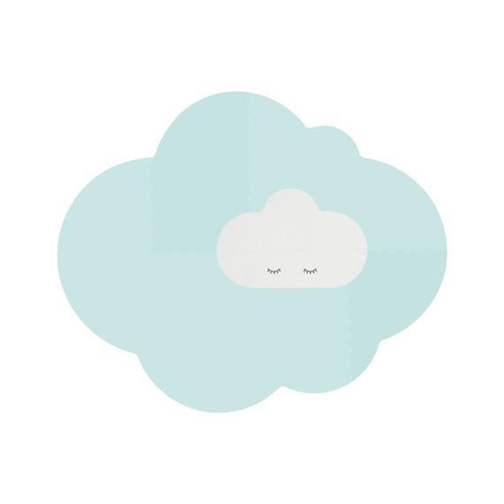 Quut - Playmat - Head in the clouds L Minty Green