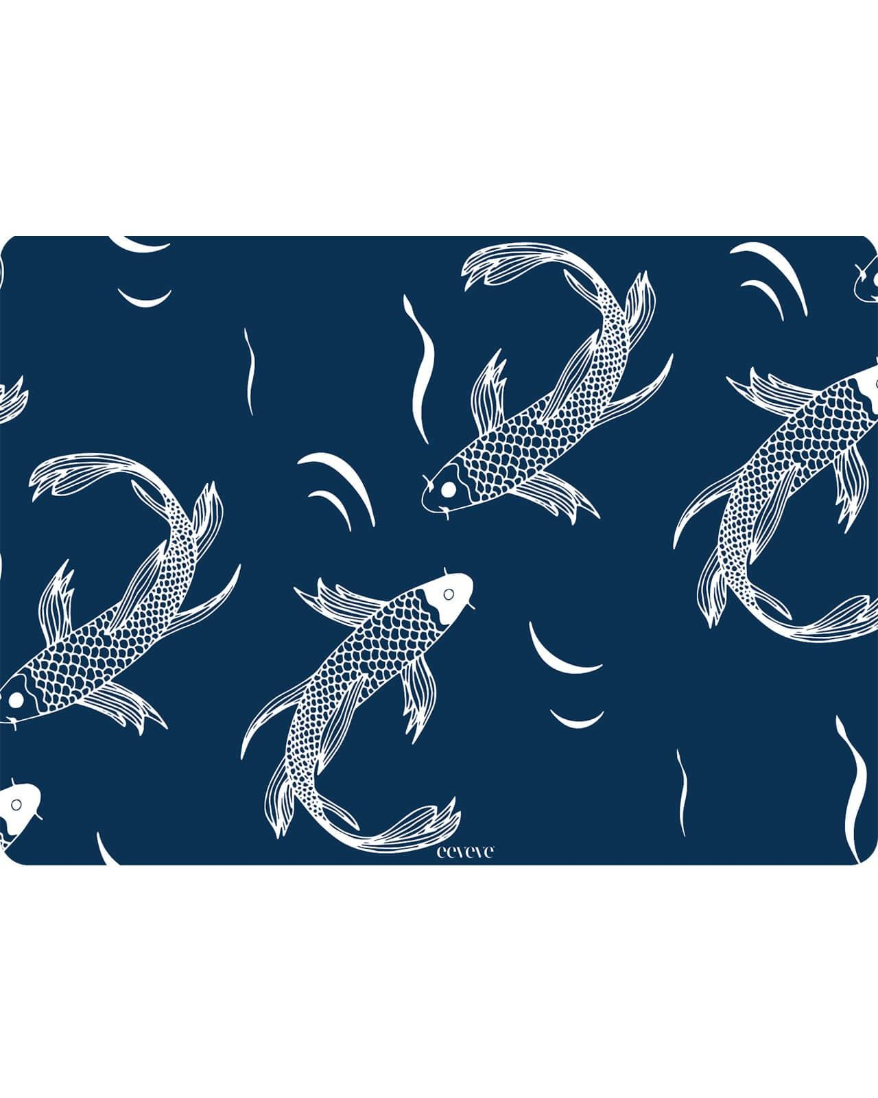 Eeveve - 6x Placemats Japanese Fish - Blue