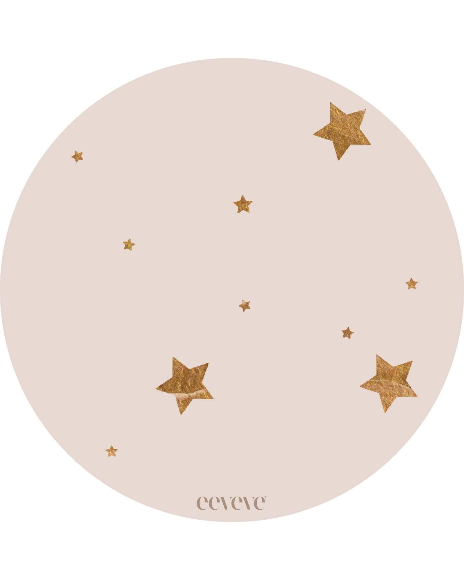 Eeveve - 12x Onderleggers Stars - Almond