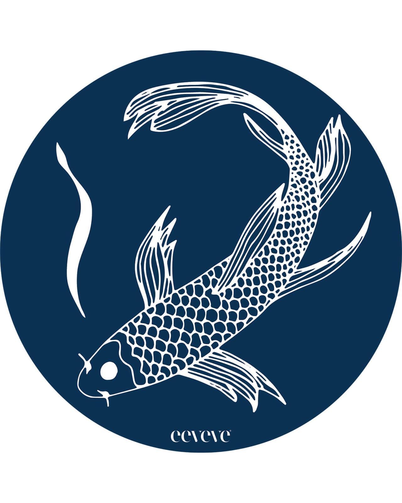 Eeveve - 12x Onderleggers Japanese Fish - Blue