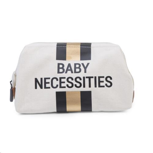 Childhome - Baby Necessities Canvas Ecru Strepen Zwart/Goud