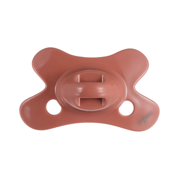 Difrax - Fopspeen Dental 0-6 M Uni/Pure Bruin/Brick