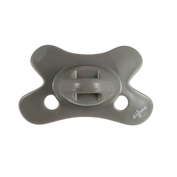 Difrax - Fopspeen Dental 0-6 M Uni/Pure Grijs/Clay