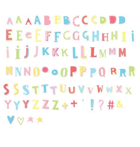 A Little Lovely Company - Lightbox letter set: Funky - colour