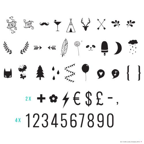 A little lovely company - Lightbox Symbol Set: Numbers & Symbols