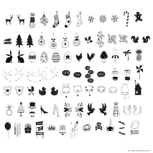 A Little Lovely Company - Lightbox symbol set: Celebrations