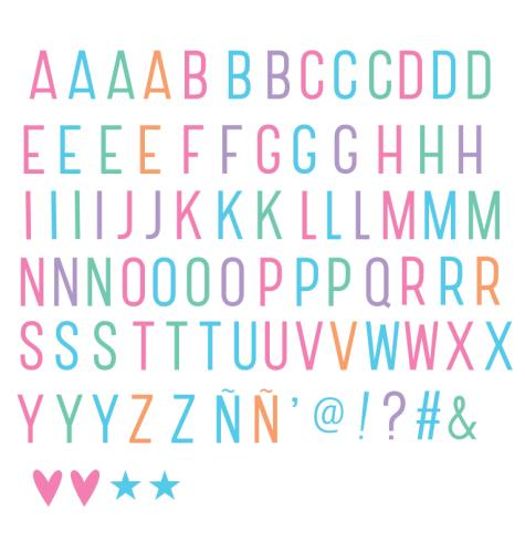 A Little Lovely Company - Lightbox letter set: Basic - pastel