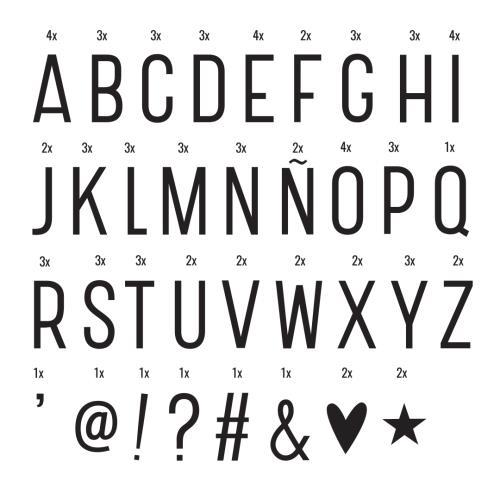 A Little Lovely Company - Lightbox letter set: Basic - black