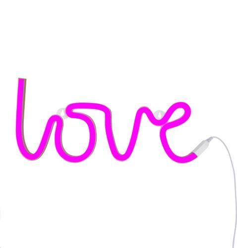 A Little Lovely Company - Neon style light: Love - pink EU