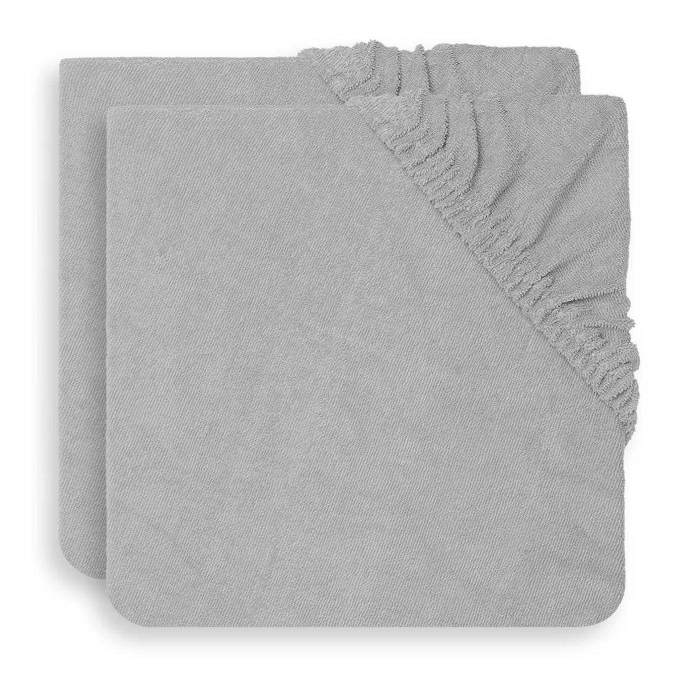 Jollein - Aankleedkussenhoes badstof 50x70 soft grey (2pack)