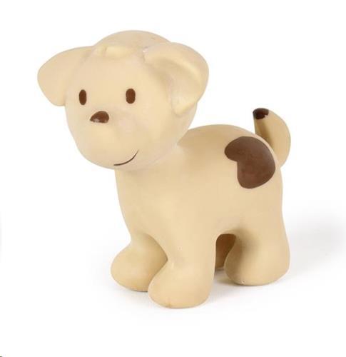 Tikiri - Mijn Eerste Boerderijdiertje / Hond 10Cm. In Natuurlijk Rubber. Met Belletje