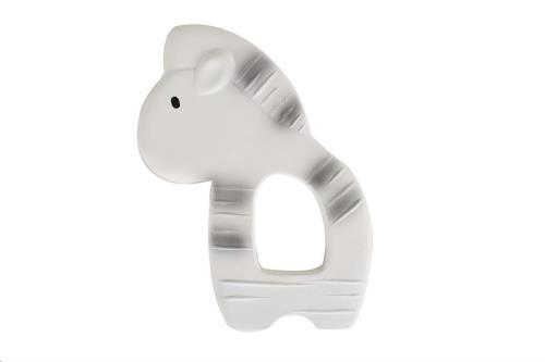 Tikiri - Bijtring - Mijn Eerste Safaridiertje / Zebra 9X11.5Cm. In Natuurlijk Rubber