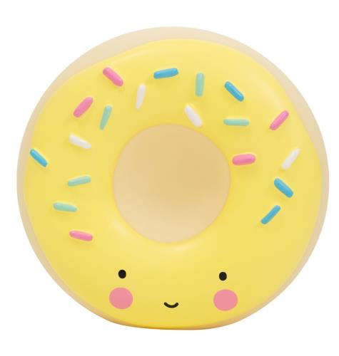 A Little Lovely Company - Money box: Donut - yellow