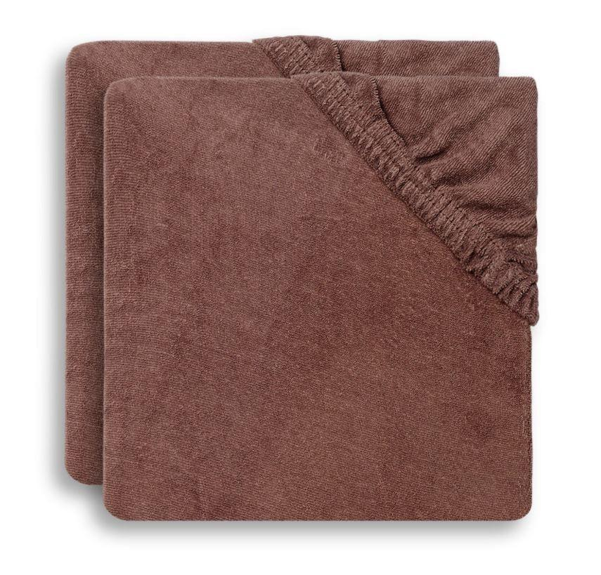 Jollein - Aankleedkussenhoes badstof 50x70cm chestnut (2pack)