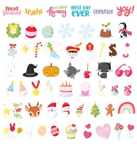 A little lovely company - Lightbox Letter Set: Let'S Celebrate