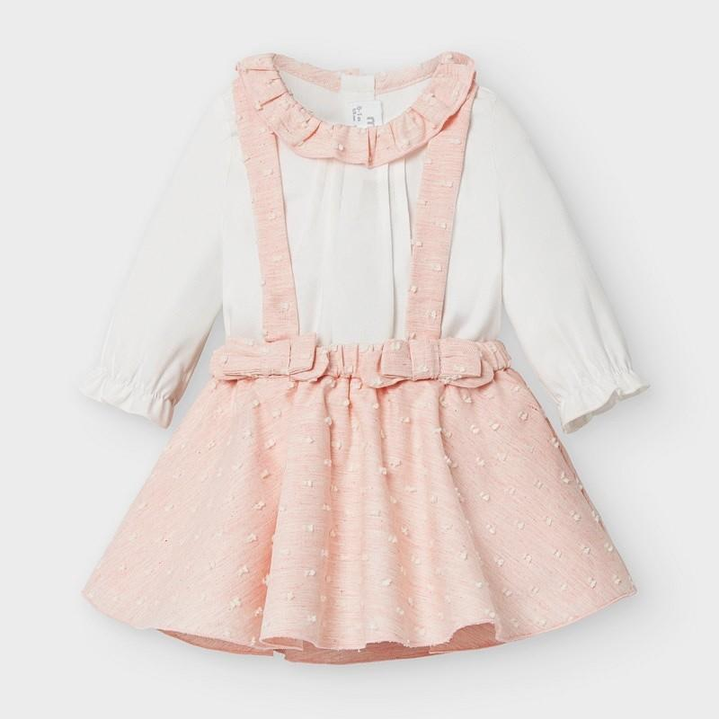Mayoral - Plumeti skirt set Blush vig - 6-9M