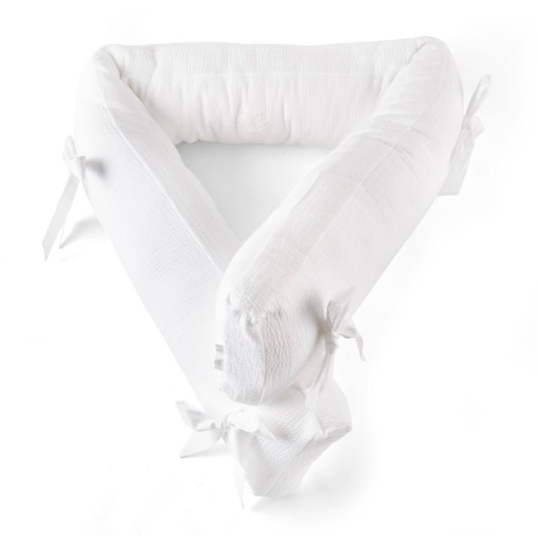 Theophile & Patachou - Bedbeschermer 210 Cm - Gewafeld H: 18 Cm Wit - Cotton White