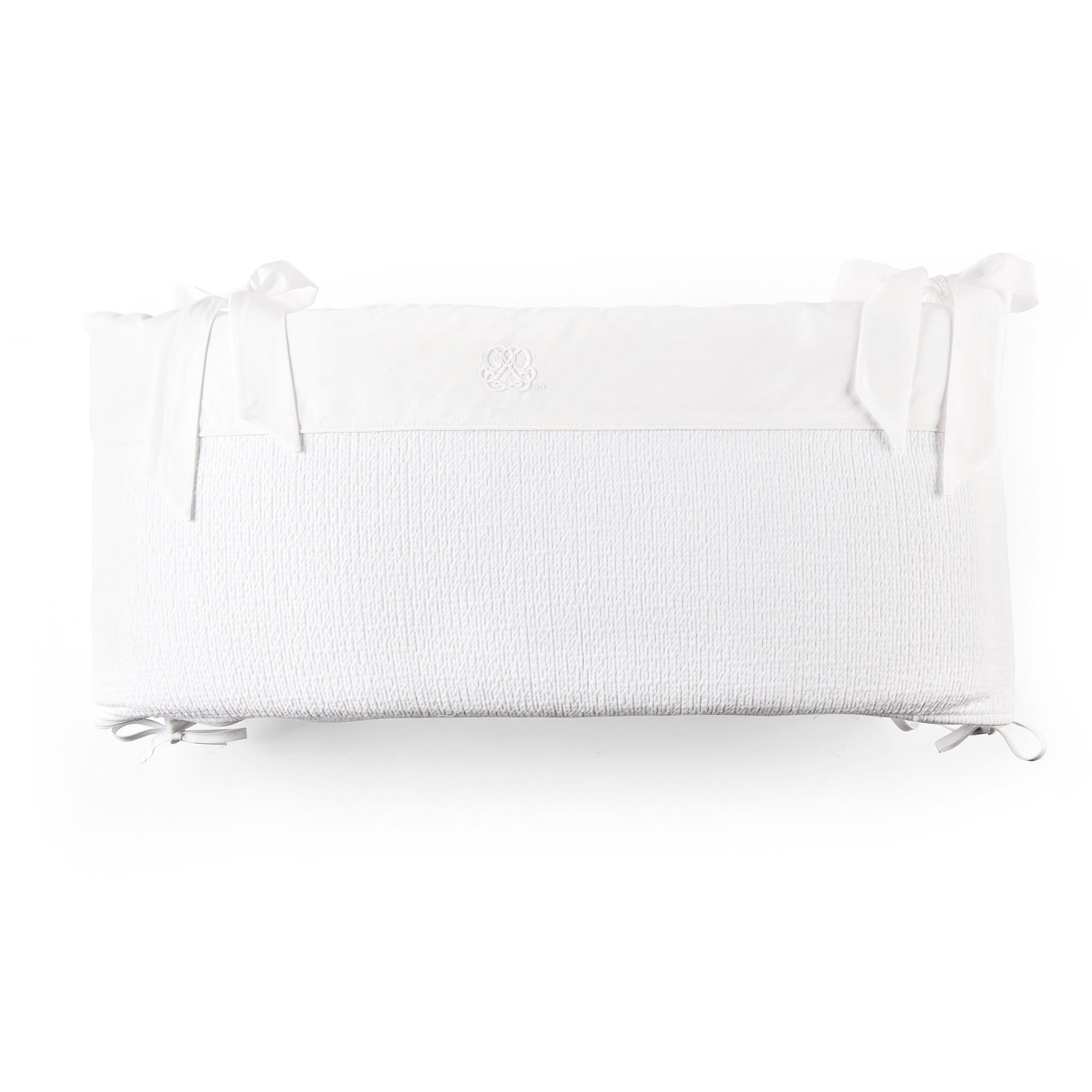 Theophile & Patachou - Bedbeschermer 60Cm - Gewafeld (60X60X60Cm) H:32Cm Wit - Cotton White