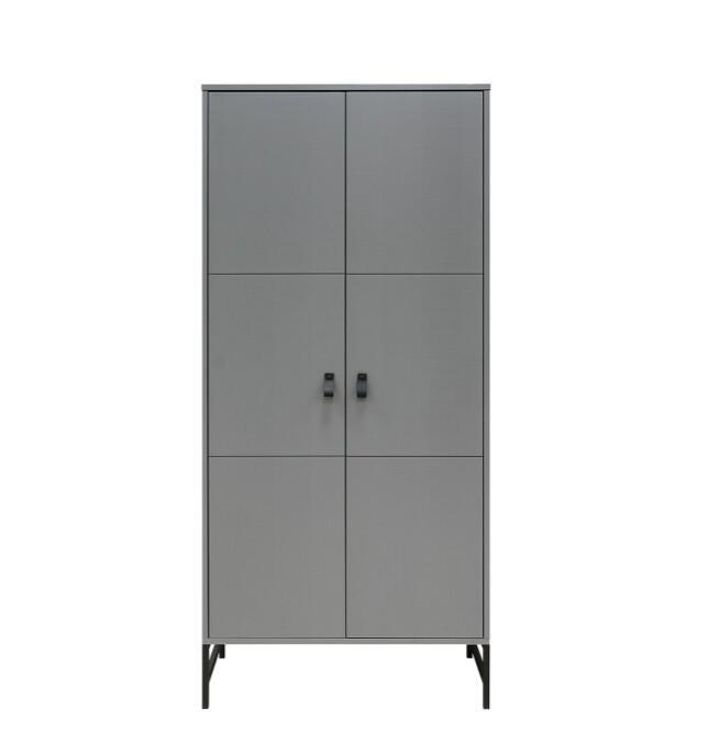 Bopita - 2-deurskast Milo Steel Grey