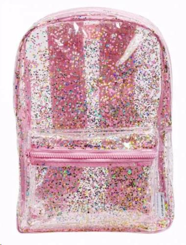 A little lovely company - Backpack: Glitter - Transparent/Pink