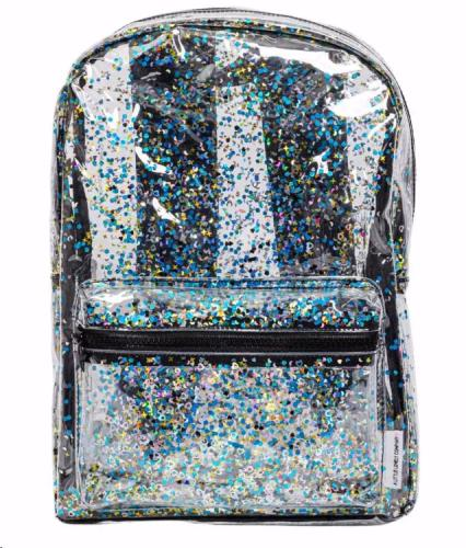 A little lovely company - Backpack: Glitter - Transparent/Black