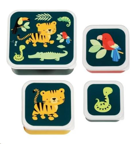 A Little Lovely Company - Lunch & snack box set: Jungle tiger