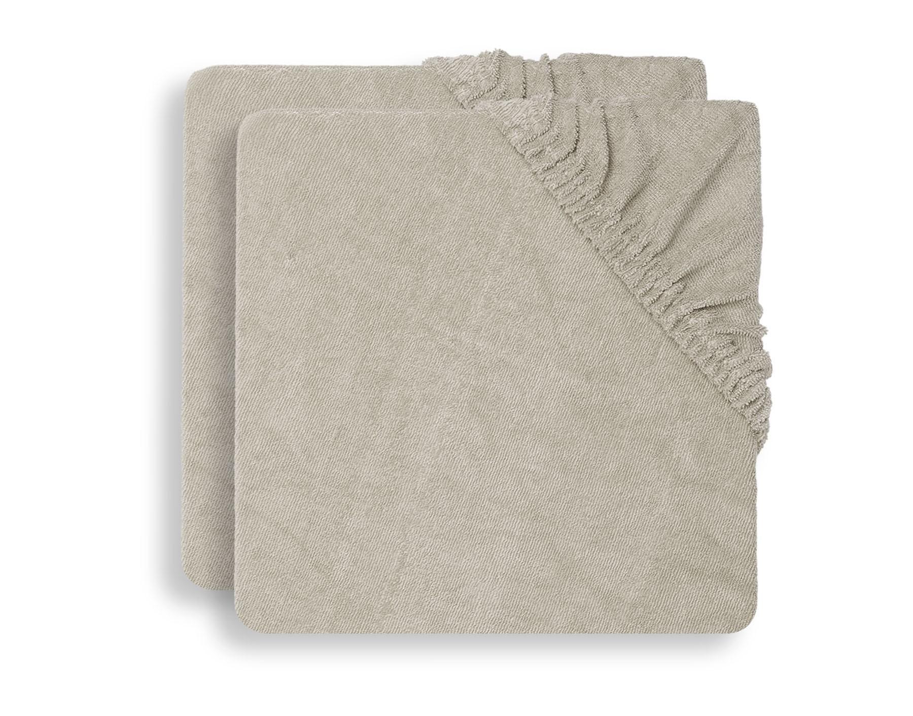 Jollein - Aankleedkussenhoes badstof 50x70 nougat (2pack)