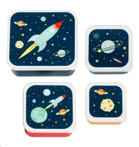 A Little Lovely Company - Lunch & snack box set: Space
