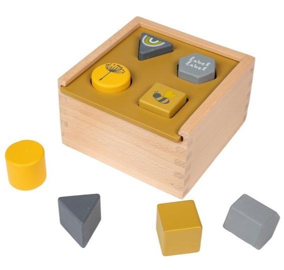 Label-Label - Shape Sorting Box - Ochre