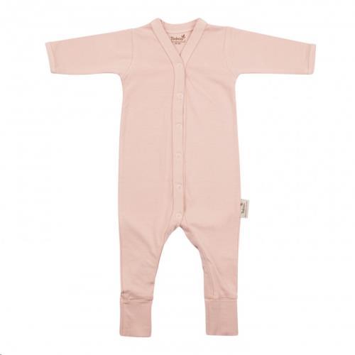 Timboo - Babypakje lange mouwen met voet 50/56 Misty Rose