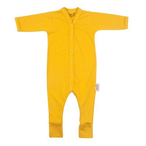 Timboo - Babypakje Lange Mouwen met Voetjes - Ocher - 0-1M