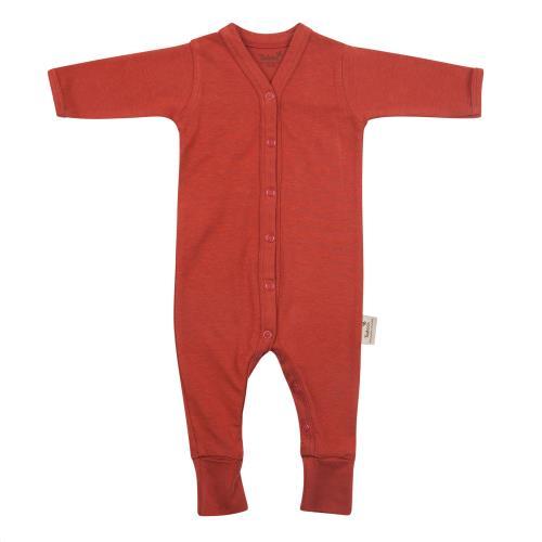 Timboo - Babypakje lange mouwen met voet 50/56 Rosewood