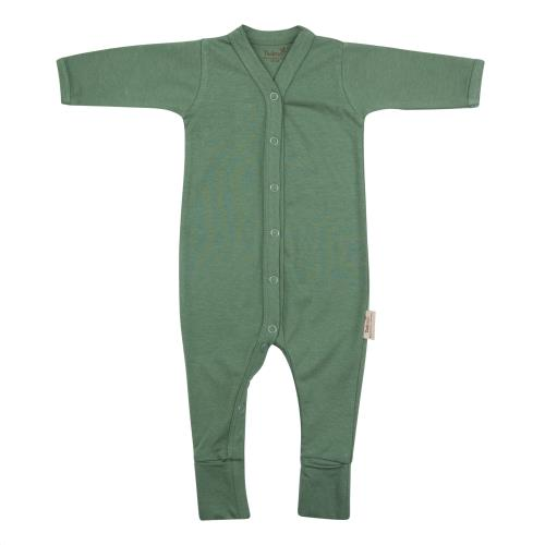 Timboo - Babypakje Lange Mouwen met Voetjes - Aspen Green - 3-6M