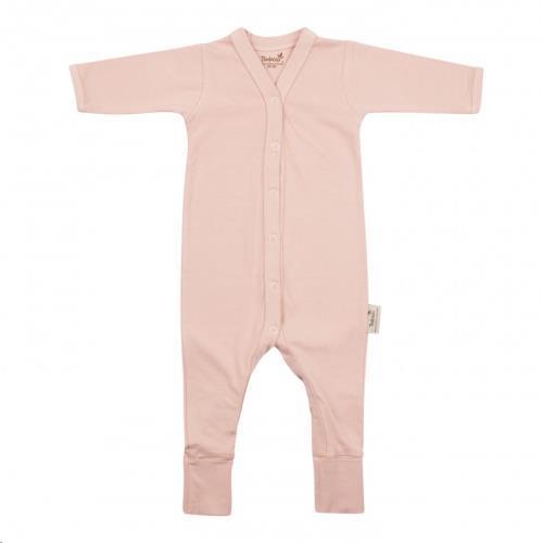 Timboo - Babypakje Lange Mouwen met Voetjes - Misty Rose - 9-12M