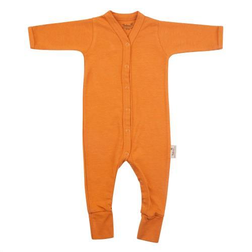 Timboo - Babypakje Lange Mouwen met Voetjes - Inca Rust - 9-12M