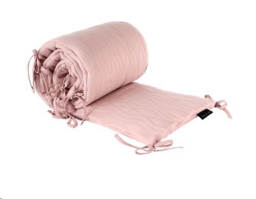 House Of Jamie - Bed Playpen Bumper - Geometry Jacquard: Powder Pink Hoj-Bbb-163-Pnk