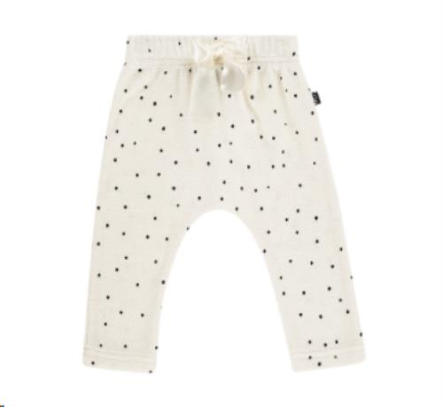House of Jamie - Baby Pants - Cream Black Dots 1-3M