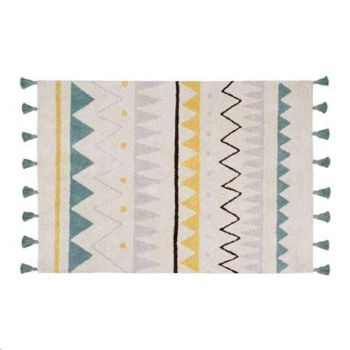 Lorena Canals - Azteca Natural-Vintage Blue Small 120 x 160