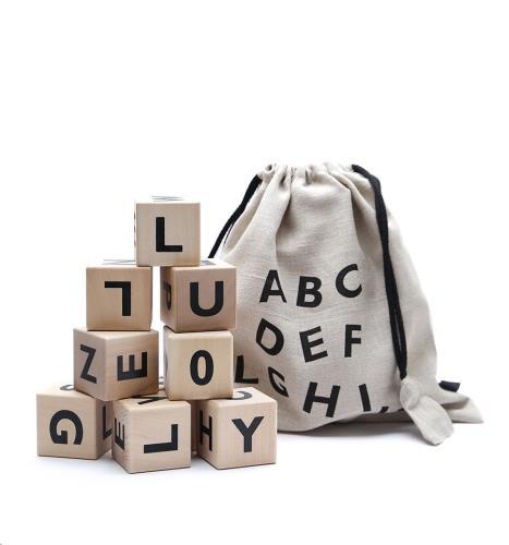 Ooh Noo - Blokken Alfabet - Black