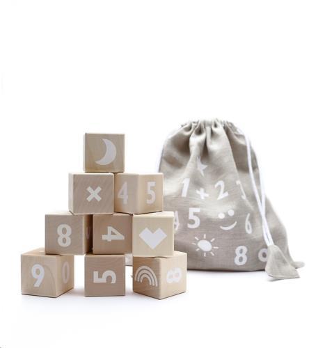 Ooh Noo - Blokken Cijfers - White