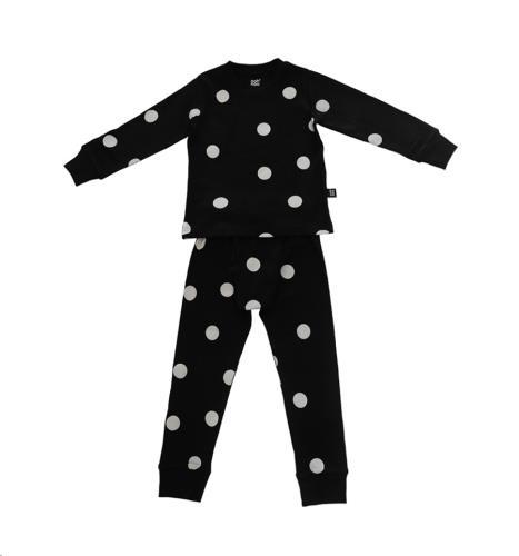 Ooh Noo - Pyjama  Black/Grey Dots - 2-3 Y (92-98 cm)
