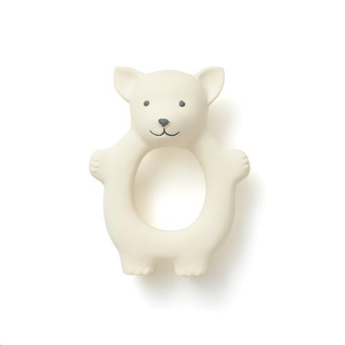 Kids Concept - Bijtring natuurlijk rubber wit
