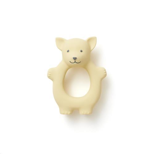 Kids Concept - Bijtring natuurlijk rubber geel