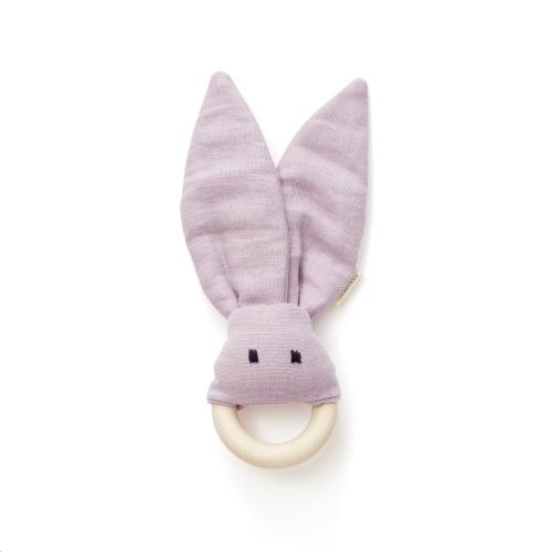 Kids Concept - Bijtring linnen roze