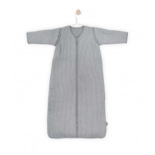 Jollein - Baby slaapzak 110cm Rib stone grey met afritsbare mouw