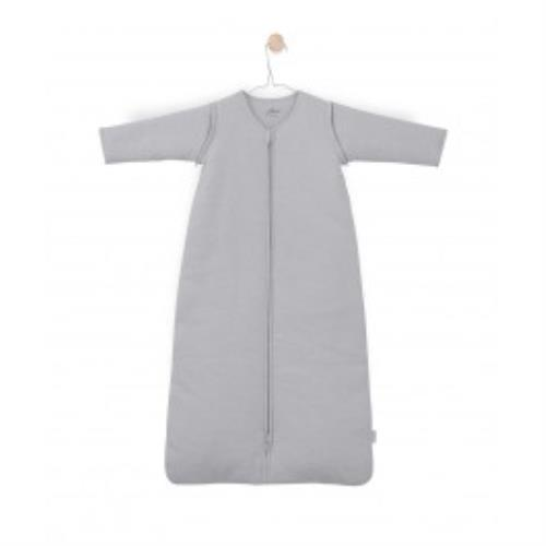 Jollein - Baby slaapzak 110cm Tiny waffle soft grey met afritsbare mouw