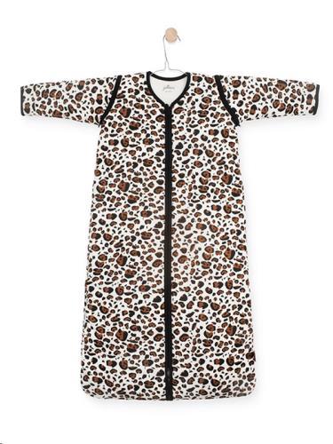 Jollein - Baby slaapzak 110cm Leopard natural met afritsbare mouw