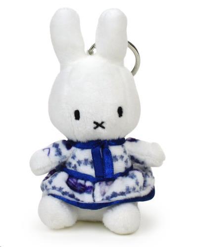 Nijntje - Miffy - Delft Blue Dress Keychain - 10 cm - 4
