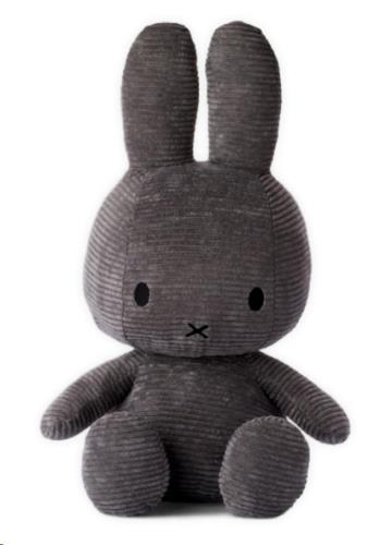 Nijntje - Miffy - Corduroy Dark Grey - 23 cm - 9
